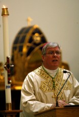 Bishop Dewane at the Ave Maria Oratory