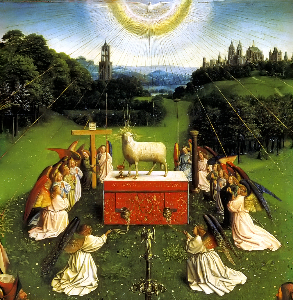 Ghent Altarpiece Lamb And bowing His head, H...