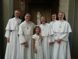 sisters in ave maria on first communion