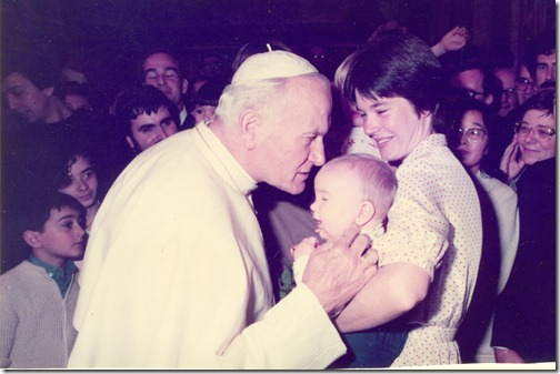 The author's first encounter with Bl. Pope John Paul II
