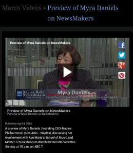 Myra Daniels talks Ave Maria