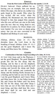 epistle and gospel
